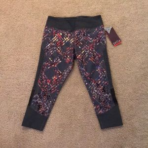 Zella reflective workout capris
